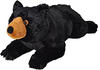 Wild Republic Jumbo Black Bear Plush, Giant Stuffed Animal, Plush Toy, Gifts for Kids, 30 Inches