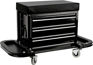 Performance Tool W85025 3-Drawer Rolling Tool Chest Seat With Magnetic Side Trays