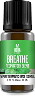 Deep Breathe Essential Oil Blend - Pure & Natural Ingredients, Therapeutic Grade - Sinus Relief, Allergy, Congestion, Cold, Cough, Headache.(USA) - 10ml