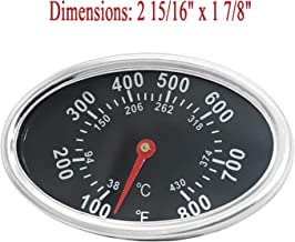 Lid Thermometer Gas Grill Heat Indicator Replacement for DYNA-GLO DGF510SBP, DGF493BNP, BBQ Grillware GGPL-2100, Temperature Gauge for Backyard Grill BY13-101-001-13, GBC1461W and Others.