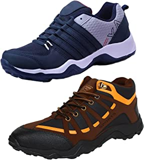 Earton Men Combo Pack of 2 Sports Shoes with Casual Shoe