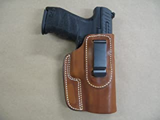 H&K VP9, VP40 Heckler & Koch IWB Leather In The Waistband Concealed Carry Holster CCW TAN RH