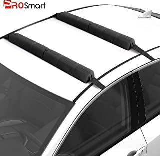 PROSmart Soft Roof Rack Pads - Universal Car Soft Roof Rack Pad for Kayak/Surfboard/SUP/Canoe/Snowboard/Paddle Board with Adjustable & Steady Tie-Down Straps