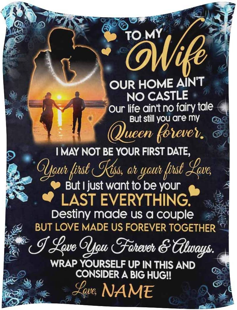 InterestPrint Customized outlet Blanket with Free shipping New Name Wife Husband for from