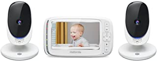 Motorola Comfort 50-2 Digital Video Audio Baby Monitor with 5-inch Color Screen and 2 Cameras