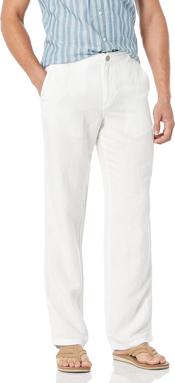 Amazon Essentials Men's Classic-fit Flat-Front Linen Pant