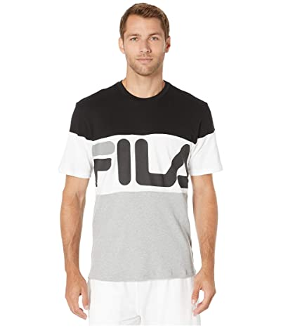 Fila Vialli T-Shirt (Black/Heather Grey/White) Men