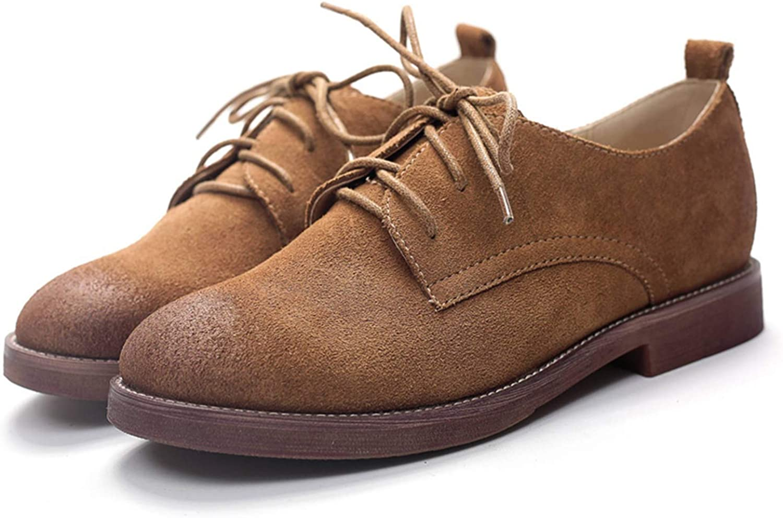 Retro Oxford shoes for Women Genuine Leather shoes Woman Lace Up Oxfords Flat shoes Women Plus Size 9 10 11