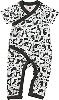Tea Collection Wrap Romper, Panda Pups Design