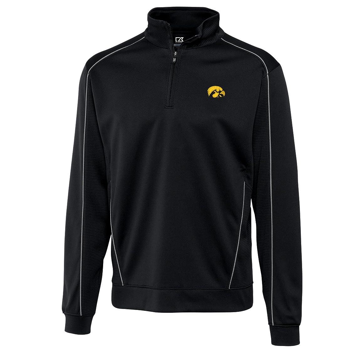 Cutter & Buck NCAA Iowa Hawkeyes Men's CB Drytec Edge Half Zip Jacket