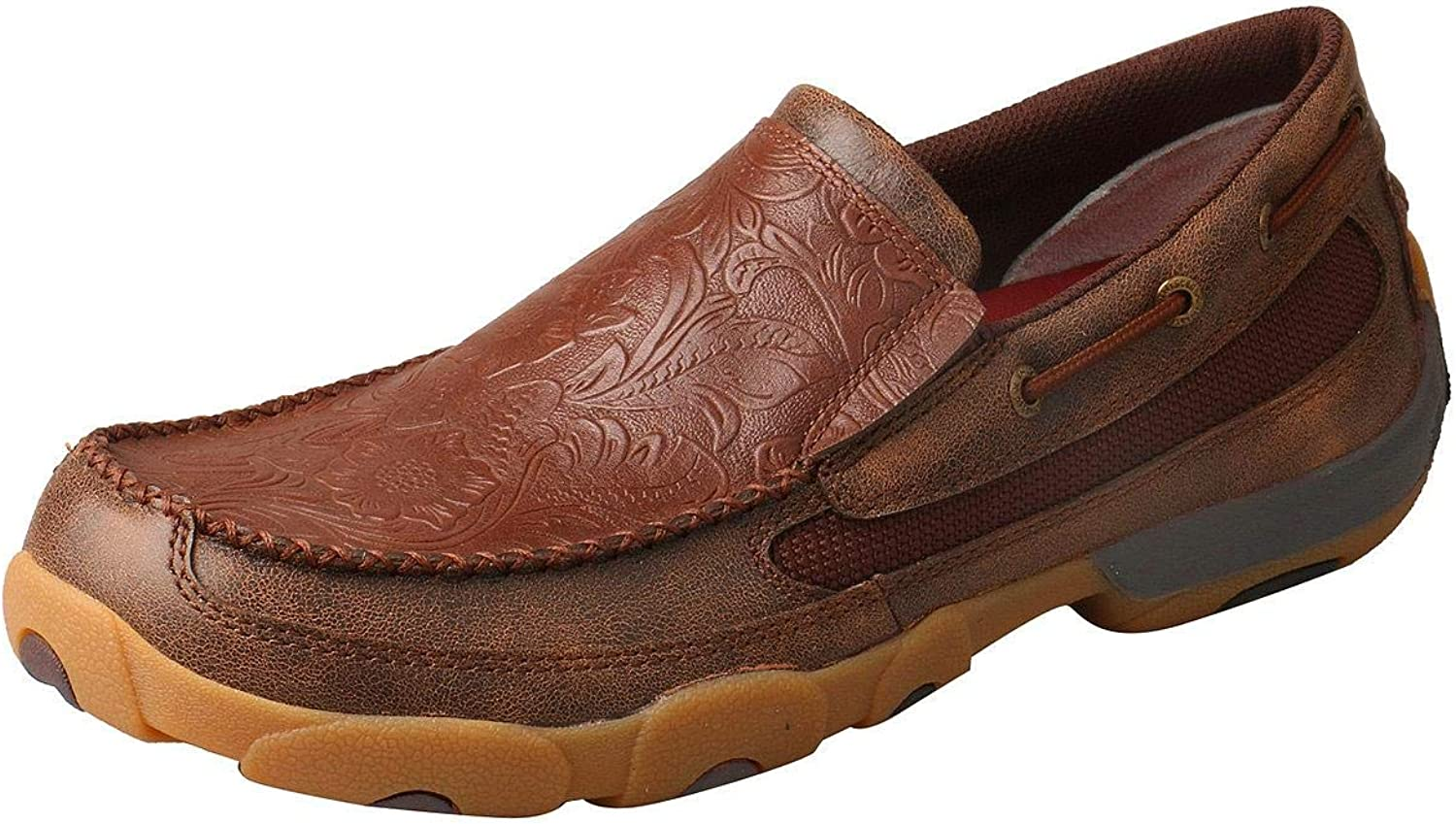 Twisted X Men's Slip on Tooled Moccasins
