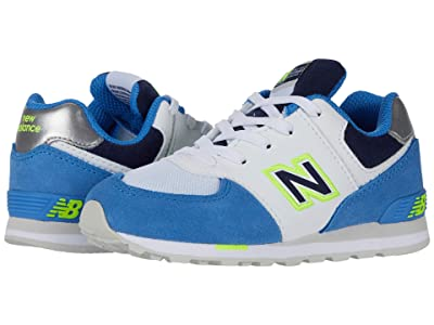 New Balance Kids 574 Varsity Sport (Infant/Toddler) (Faded Cobalt/Hi-Lite) Boy