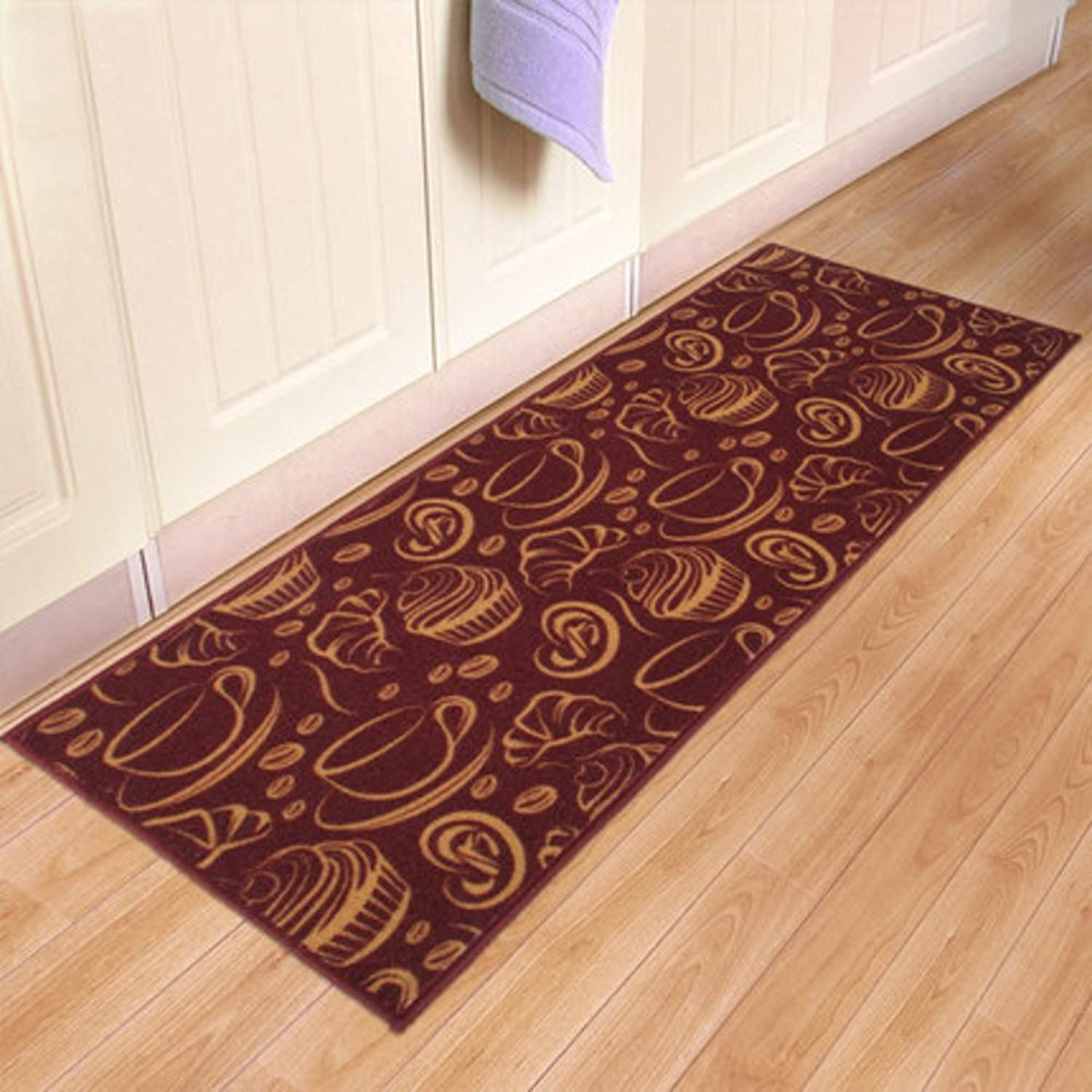 Kitchen Floor mats Strip pad Bedside Hall Hallway Bathroom mat-A 45x240cm(18x94inch)