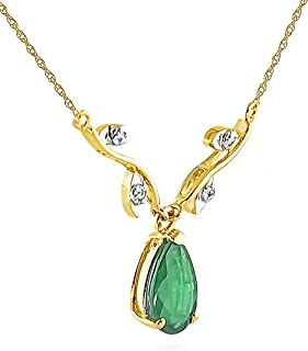 Galaxy Gold 14K Solid Rose Gold Drop Pendant Necklace with Pear Shape 0.77 Carat Natural Vibrant Opal