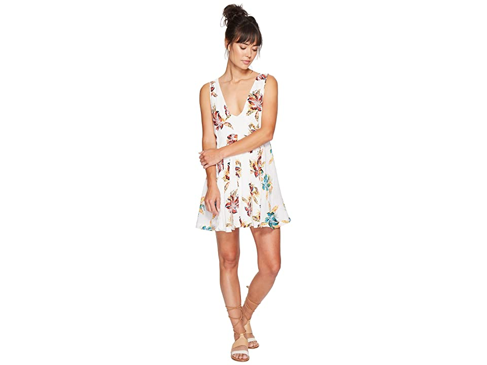 Free People Thought I Was Dreamin Mini Dress (Neutral Combo) Women