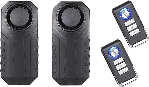 Lancoon Alarme Vélo, Antivol pour Véhicules Moto Moto avec Télécommande, 113 DB Super Fort (Pack De 2)