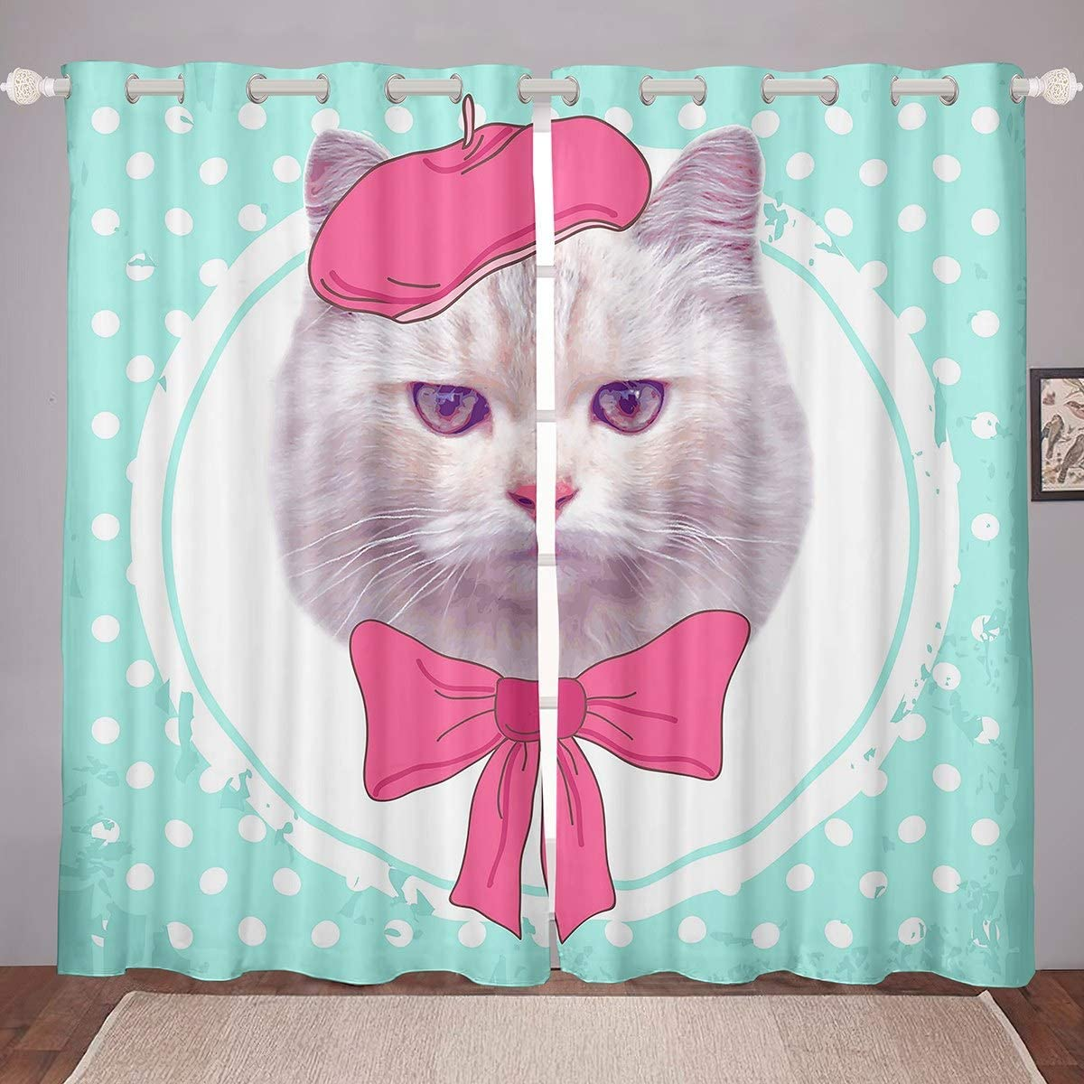 Feelyou Recommended 55% OFF Cat Curtains with Bow Bowler and fo Tie Hat