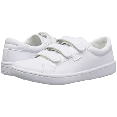 Keds Kids Ace 3V (Little Kid/Big Kid) (White Synthetic) Girls Shoes