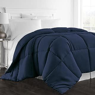 Beckham Hotel Collection 1300 Series - All Season - Luxury Goose Down Alternative Comforter - Hypoallergenic -King/Cal King - Navy