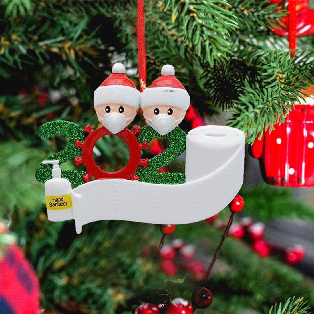 Special 2021 Holiday Christmas Ornaments Seasonal Decor Jyukan Personalized Christmas Ornaments Family Of 3 Customize It Yourself Family Christmas Ornament 2021 With Mask Hand Sanitized Ornaments