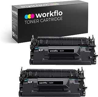 Workflo Premium Compatible for Canon 052H/052 2200C001/2199C001 2-Pack High Yield Black Toner Cartridge for The Canon imageCLASS MF424dw, MF426dw, LBP214dw Printers