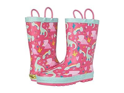 Western Chief Kids Dazzle Dinos Rain Boots (Toddler/Little Kid) (Pink) Girl