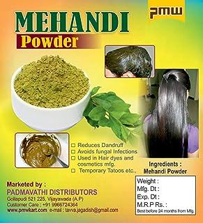 Pmw - Natural Mehandi Powder - Henna Powder - Gorintaku - For Skin & Hair - 500 Grams - Loose Packed