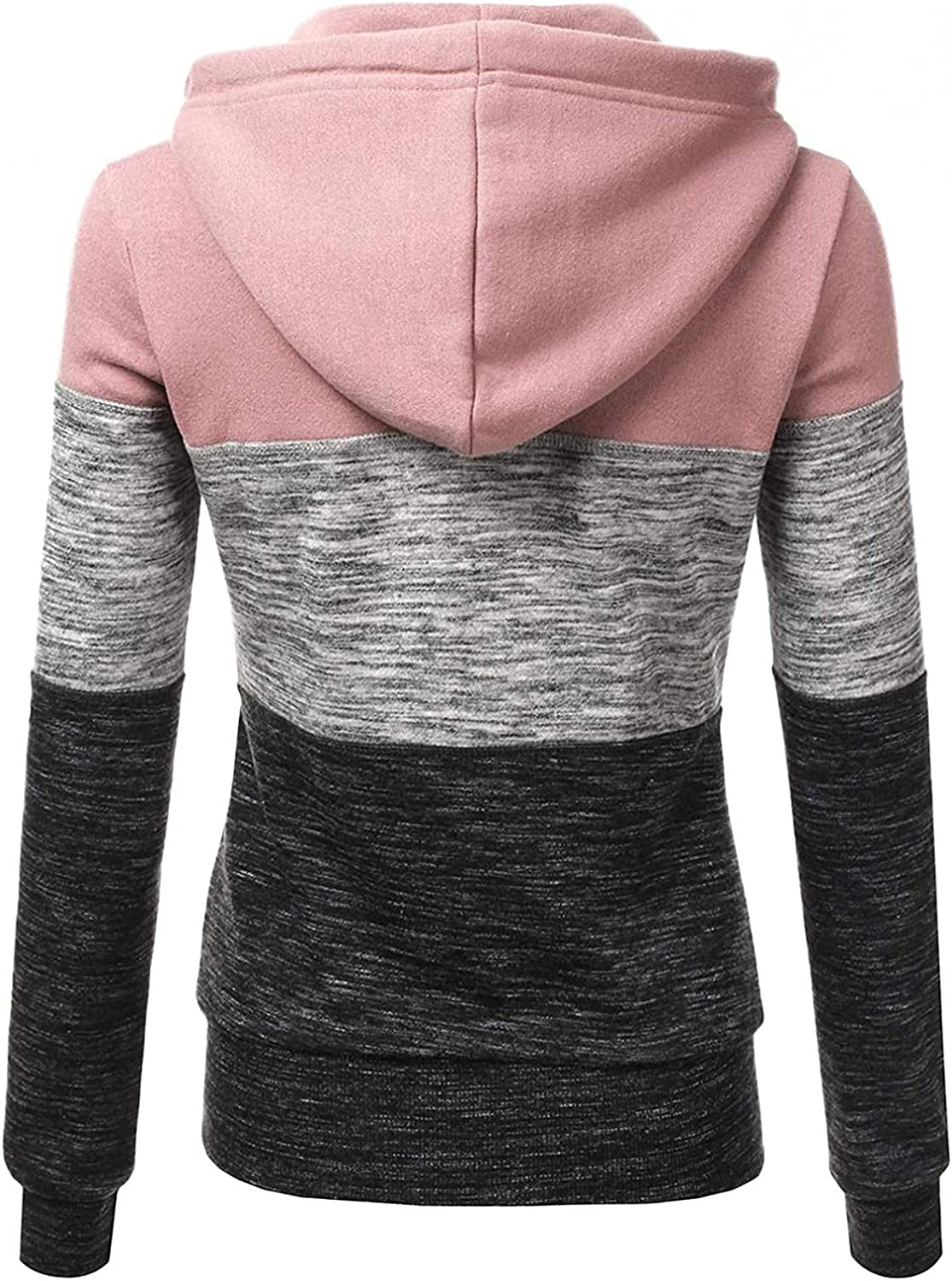 Kcocoo Lightweight Thin Zip-Up Hoodie Jacket for Women Long Sleeve Fall Sweatshirts Casual Drawstring Cardigans with Pockets