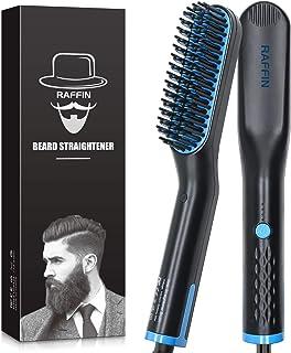 Beard Straightener for Men, Heated Beard Straightening comb Fast Heating Anti-Scald Beard Comb, Beard Hair Straightener Brush for Men, Dual Voltage Portable Beard Straightening Brush for Travel,Gift
