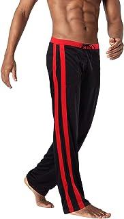 BIYLACLESEN Men's Running Pants Lightweight Loose Fit Quick Dry Joggers Sweatpants Mesh Pants Open Bottom