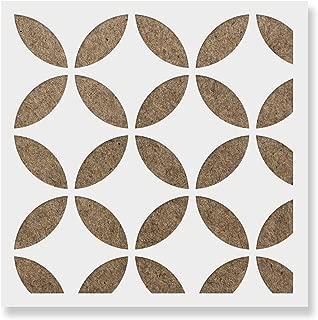 Japanese Tile Stencil - Laser-Cut Reusable Floor Stencil & Backsplash Tile Stencils for Home Decor, Furniture, and Walls