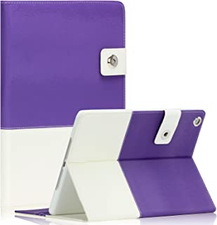 SAVEICON iPad Air 2 Case - Hybrid PU Leather Folio Case Cover with Card Slots Auto Wake/Sleep Smart Cover Stand for Apple iPad Air 2 WiFi 3G 4G LTE with Built-in Stand - Purple