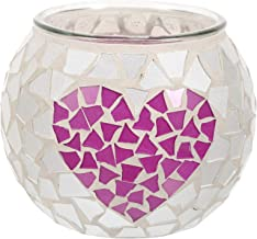 FRCOLOR Mosaic Glass Candlesticks Votives Tealight Candle Holder Moroccan Mosaic Glass Candelabra Candlestick Tabletop Cen...