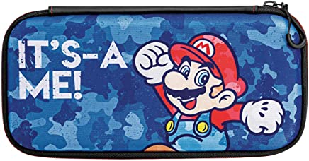 Nintendo Switch Camo Super Mario Bros Mario Slim Travel Case for Console and Games by PDP, 500-104