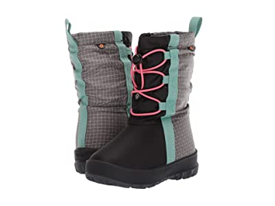 Bogs Kids Snownights (Toddler/Little Kid/Big Kid) (Black/Pink) Girls Shoes