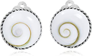 Classic 18 mm Round Button .925 Sterling Silver Clip On Earrings