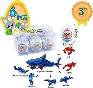 Totem World 6 Filled Easter Egg Building Toys - Fish Ocean Sea Animal Set - Age 6-12 Learning Educational Inside 3