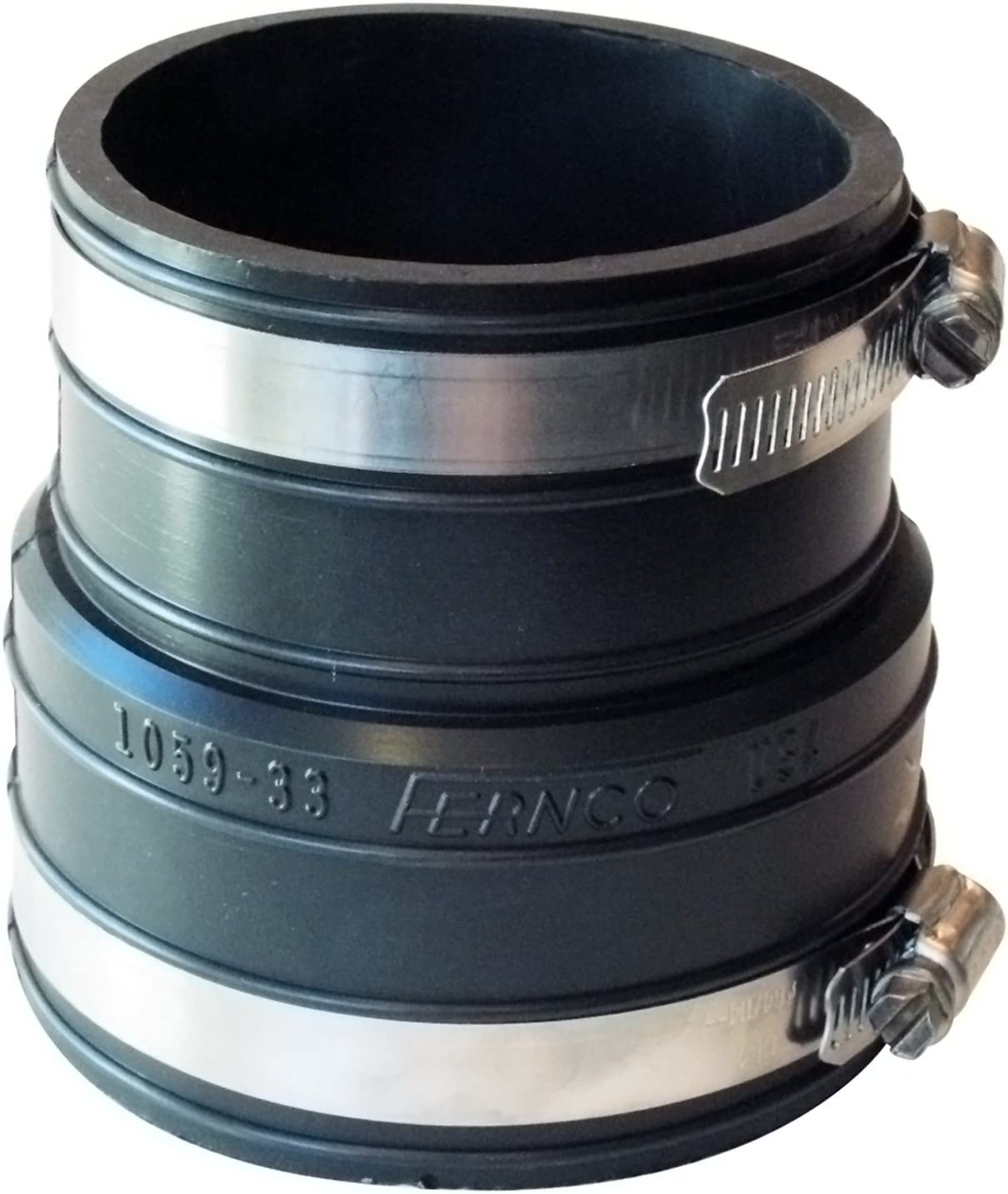 Inner Diameter Rubber Flexible Coupling Repair Fitting Fernco P1059-33 3-Inch by 3-Inch