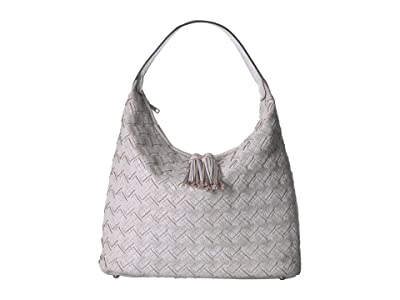 Patricia Nash Braided Stitch Marcellina Hobo (White) Hobo Handbags