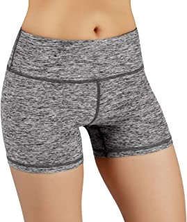 ODODOS Power Flex Yoga Short Tummy Control Workout Running Athletic Non See-Through Yoga Shorts with Hidden Pocket