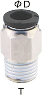 PneumaticPlus PC-3/8-N2 Push to Connect Tube Fitting, Male Straight - 3/8