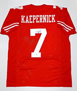Colin Kaepernick Autographed Red Pro Style Jersey- PSA/DNA Authentication