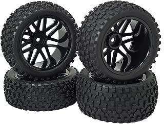 Mirthobby 12mm Hex Wheel Rims Mesh Shape Rubber Tires with Sponge 88mm/3.46