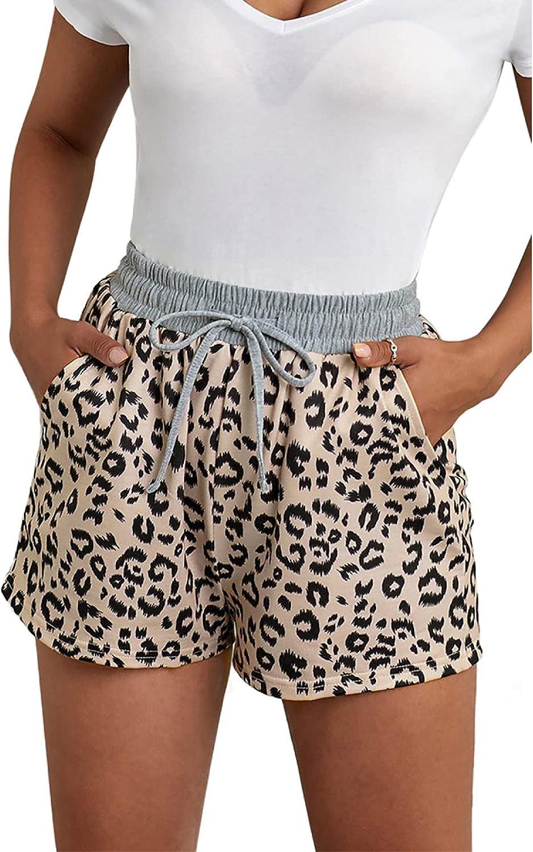 Qinvern Women's Homewear Sports Shorts Summer Fashion Pants favorite for Pajama D