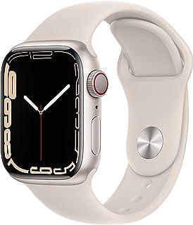 AppleWatch Series7 (GPS+ Cellular) - Caja de Aluminio en Blanco Estrella de 41mm - Correa Deportiva Blanco Estrella - ...