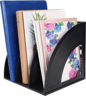 Porte-revues de Bureau 3/4 Compartiments Fichier Classeur Document Corbeille à Courrier Organiseur de Bureau Panier Stocka...