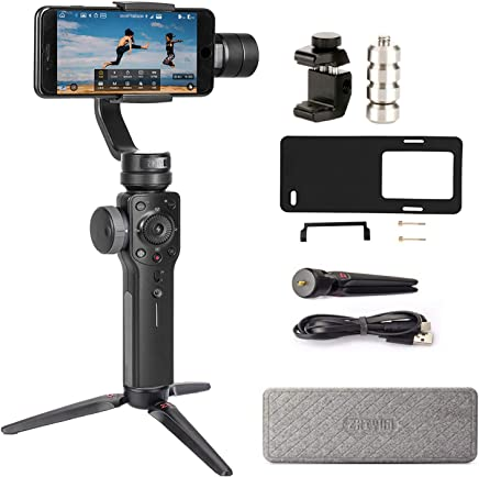 $119 Get Zhiyun Smooth 4 3-Axis Handheld Gimbal Stabilizer Compatible FiLMiC Pro for iPhone Xs Max/Xs/X/8 Plus/7/SE Samsung Galaxy S9+/S8/S7 etc Smartphones(Gopro Adapter/Charging Cable/Counterweight Included)