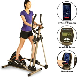 Exerpeutic Heavy Duty Magnetic Elliptical with Bluetooth App Tracking Option