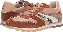 코치 패치워크 스니커즈 COACH C118 Wave Patchwork Runner,Biscotti/Beechwood Mixed/Printed Leather