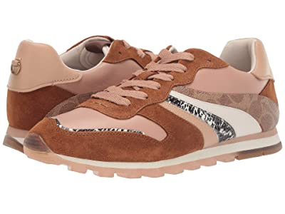 COACH C118 Wave Patchwork Runner (Biscotti/Beechwood Mixed/Printed Leather) Women